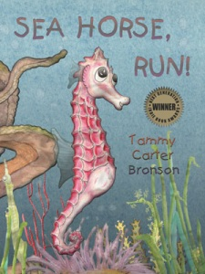 Sea Horse, run! with Award Sticker