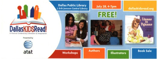 Dallas Kids Read Festival Bookmark