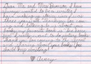 Avery's Letter