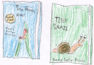 Book Covers drawn by Hayden B. at Liberty Christian School