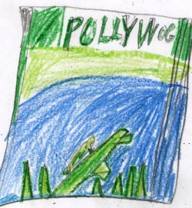 Drawing of Polliwog's Cover by Hayden at Liberty Christian School.