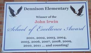 Dennison Elementary Sign